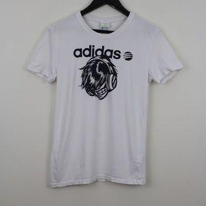 Adidas Neon Label White Graphic Tshirt Music Nerd